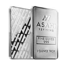 Lot of 2 - 1 oz Asahi Silver Bar .999 Fine