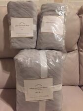 3pc POTTERY BARN ZEBRA MATELASSE FULL QUEEN DUVET COVER & 2 EURO SHAMS GREY MIST