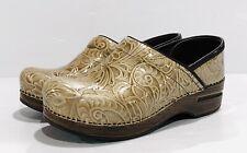 DANSKO Tooled Embossed Patent Leather Professional Clogs~37(US 6.5-7)EXC COND!