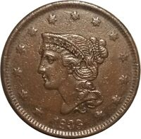 1839 Braided Hair Large Cent, N-8, Petite Head, XF Details, Light Corrosion