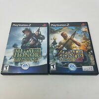Playstation 2 Medal of Honor Frontline and Rising Sun 2 Games (PS2, CIB, WW2)