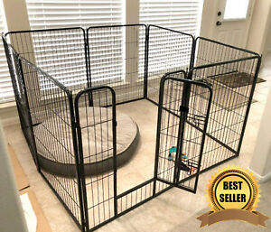 Extra Large Exercise Pen Dog Kennel 40 Inch Tall, Dog Pen Indoor or Outdoor New