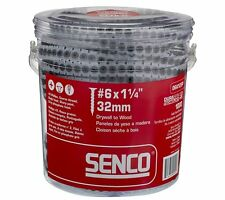 Senco 06A125P DuraSpin Number 6 by 1-1/4-Inch Drywall to Wood Collated Screw (1,