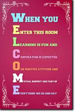 Accolgo con favore-aule POSTER-apprendimento motivazionali ART PRINT-insegnante di scuola