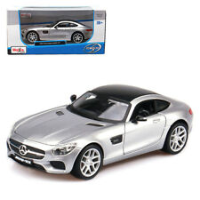 Maisto 1:24 Mercedes Benz AMG GT Diecast Model Car New Silver