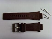DIESEL Original Ersatzband Lederarmband DZ1175 Uhrband braun watch strap brown