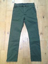 BNWT DIESEL Chi Blado Chino Khaki Regular Fit Pantaloni @ Taglia 27 nuovi jeans