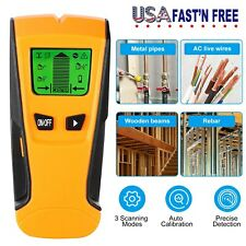 Stud Center Finder Wood Metal And AC Live Wire Detector With LCD Display US Stoc