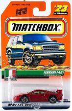 Matchbox #23 Ferrari F40 With MB 2000 Logo New On Card