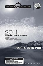 Sea-Doo Owners Manual Book 2011 GTS PRO & RXP-X 255