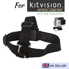 Adjustable Head Helmet Strap Mount for Action Cam Kitvision Escape 4kw Hd5w Hd5
