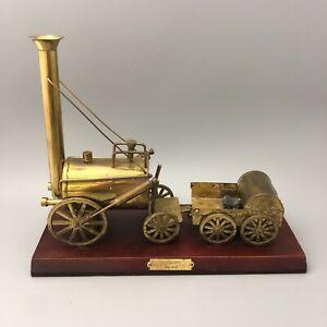 Stephensons Rocket Golden Model on Wooden Mount 33x26x11.5cm 30026 CP
