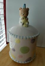 Hushabye Babies Ceramic 2003 Demdaco Nursery Jar Keepsake Holder