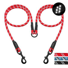 """Double Dog Leash Braided Dual Leash Coupler For Walking Training Two Dogs 40"""""""