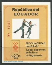 STAMPS-ECUADOR. 1984. Sarajevo Winter Olympics Miniature Sheet. SG: MS1909.