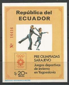 STAMPS-ECUADOR. 1984. Sarajevo Winter Olympics Miniature Sheet. SG: MS1909.