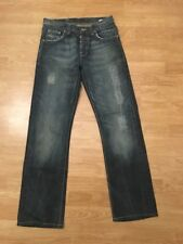 NUDIE Jeans Straight Sven Iron Denim men Jeans Size 30x32