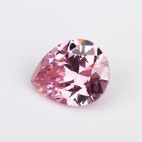 Pink Zircon 13.50ct 12x16mm Pear Faceted Cut Shape AAAAA VVS Loose Gemstone