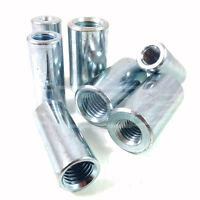 PACK OF 5, M8 TO M6 THREADED BAR / ROD / STUD CONNECTORS / REDUCERS ZINC BZP *