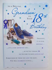 To A Special Grandson On Your 18th Birthday Card