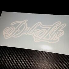 WHITE Dub Life Car Sticker Decal VW VDUB Beetle Bus Bug
