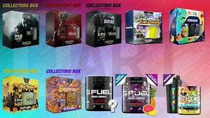 G FUEL Energy LIMITED and COLLECTOR Boxes + Flavors 40+ Servings GFuel TUBS