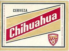 MEXICO - Cia.Arrendataria De La Cerv.Juarez - Chihuhua - beer label C1324