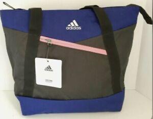 Adidas Squad III Large Swim Tote Gym Beach Day Bag Black Cobalt Coral New Tags!