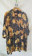 Vintage Men's Hawaiian Shirt Caribbean Joe Let Go Xl 100% Rayon
