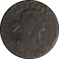 1796 Large Cent 'LIHERTY' ERROR AG/G Details S.103 R.4+