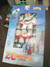 vintage boxed premier father christmas santa working 20 christmas tree lights