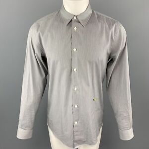 MARC JACOBS Size S Black & White Pinstripe Cotton Long Sleeve Shirt