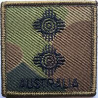 DPCU Army Australia Rank LT Patch with Hook Backing