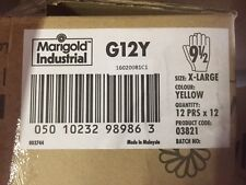 (1 case)  MARIGOLD LATEX G12Y YELLOW FOOD HANDLING GLOVES 9 1/2 X-LARGE (NEW)