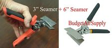 "TWO Hand Sheet Metal Seamers 3"" & 6"" Edger Bender Crimper HVAC  Meta Working AP"