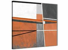 Burnt Orange Grey Painting Stairway Canvas Decor - Abstract 1s390m - 64cm
