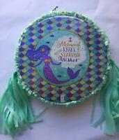 Mermaid Wishes Pinata..Party Game Decoration FREE SHIPPING