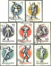 Hungary 1601A-1608A fine used / cancelled 1959 26. Championship in Fencing in