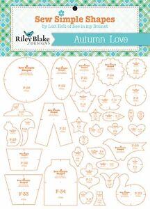Sew Simple Shapes Autumn Love Quilt Templates Set by Lori Holt