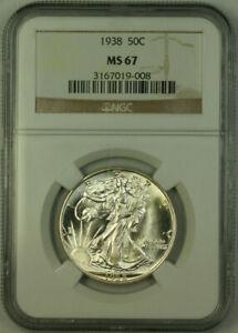 1938 Walking Liberty Half Dollar 50c Silver Coin NGC MS-67 JAB