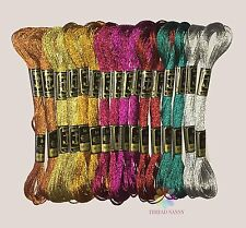 COATS Anchor Brand Metallic Embroidery Floss Skeins Thread for Hand Embroidery -
