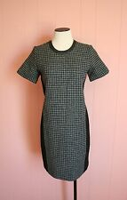 J Crew Mixed Houndstooth Dress 4 Charcoal Black Career Suit