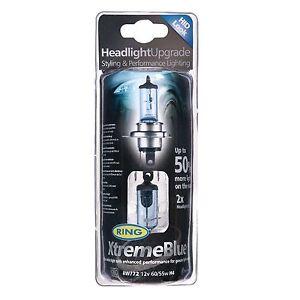 Ring Xtreme Blue Performance Headlight Bulb RW772 H4 472 60w/55w HID LOOK x 2