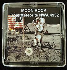 AUTHENTICATED LUNAR METEORITE- Deluxe Moon Rock & Art Display with Easel  f