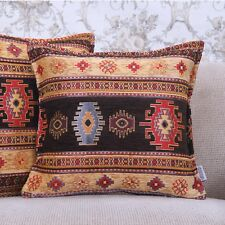 """Turkish Kilim Rug Pattern Pillow Square 16x16"""" Decorative Sofa Couch Throw Free!"""