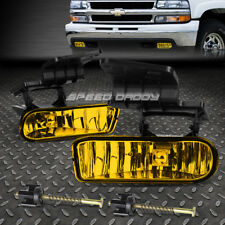 FOR CHEVY 99-02 SILVERADO/-06 TAHOE YELLOW LENS OE DRIVING FOG LIGHT LAMP+SWITCH