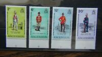 Ascension 1973 Anniversary of Departure of Royal Marines from Ascension set MNH