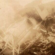 1920s RPPC Train Wreck Disaster Narrow Gauge