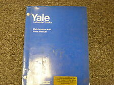 Eaton Yale K58C Forklift Lift Truck Parts Catalog & Owner Operator Manual Book