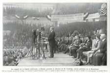 1930 Congress Of The American Legion, In Boston, Coolidge, Former President